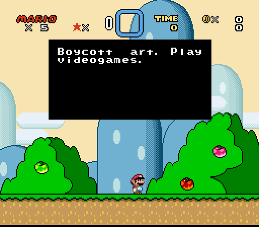 SUPER MARIO WORLD oppressive ENVIRONMENTS