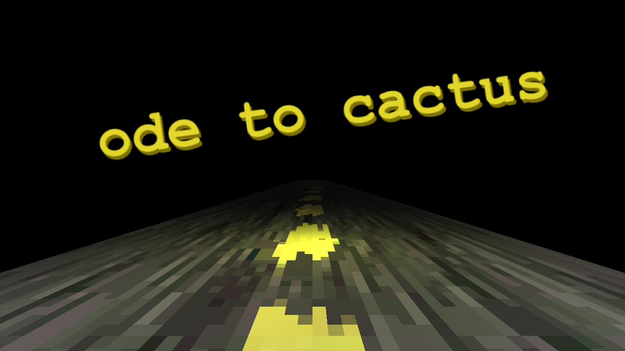 ode to cactus