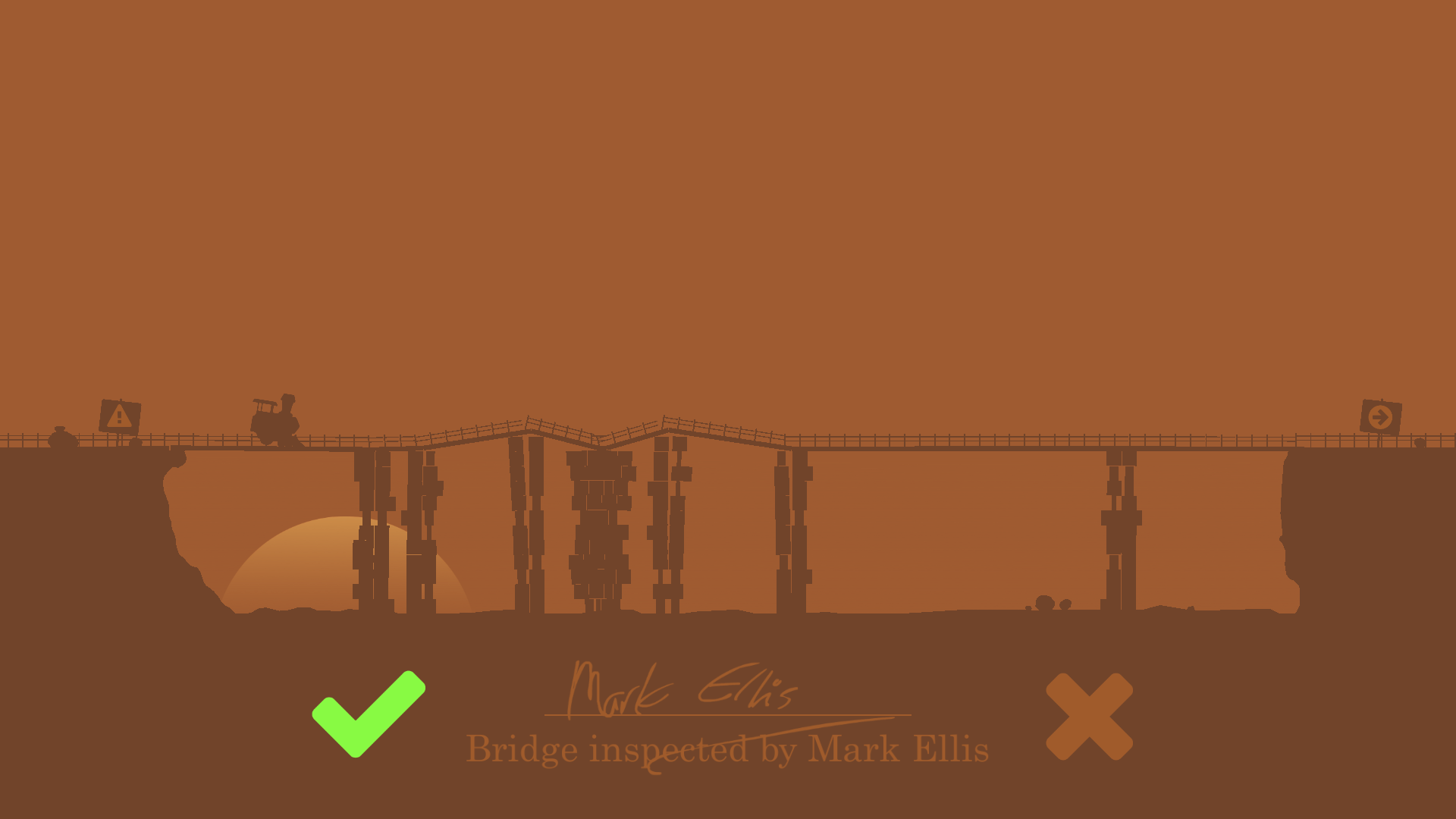 Mark Ellis: Train Bridge Inspector
