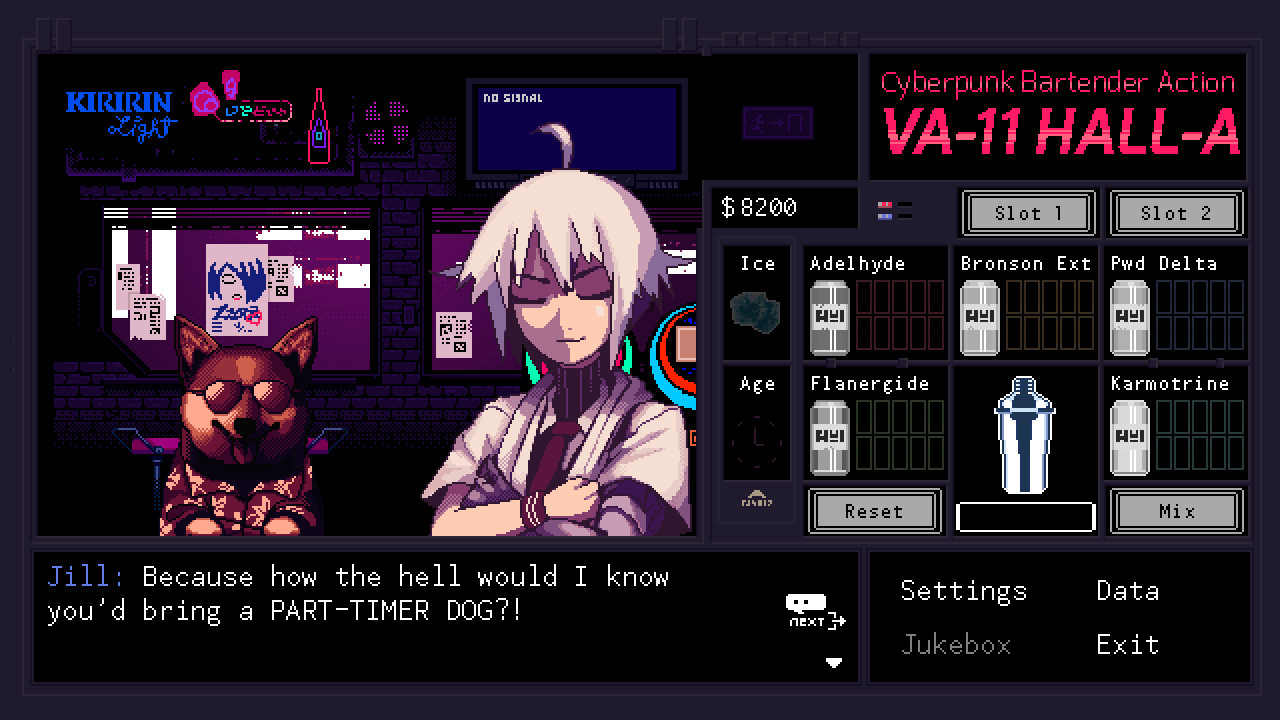 VA-11 Hall-A: Cyberpunk Bartender Action (Sukeban Games)