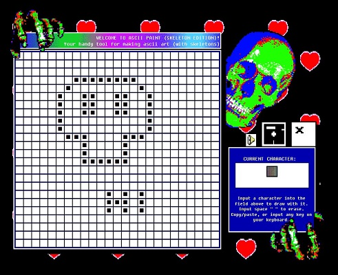 ASCII PAINT - SKELETON EDITION
