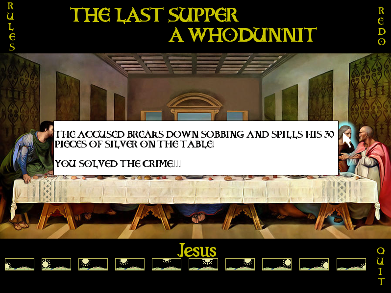 THE LAST SUPPER, A WHODUNNIT (Mandle)