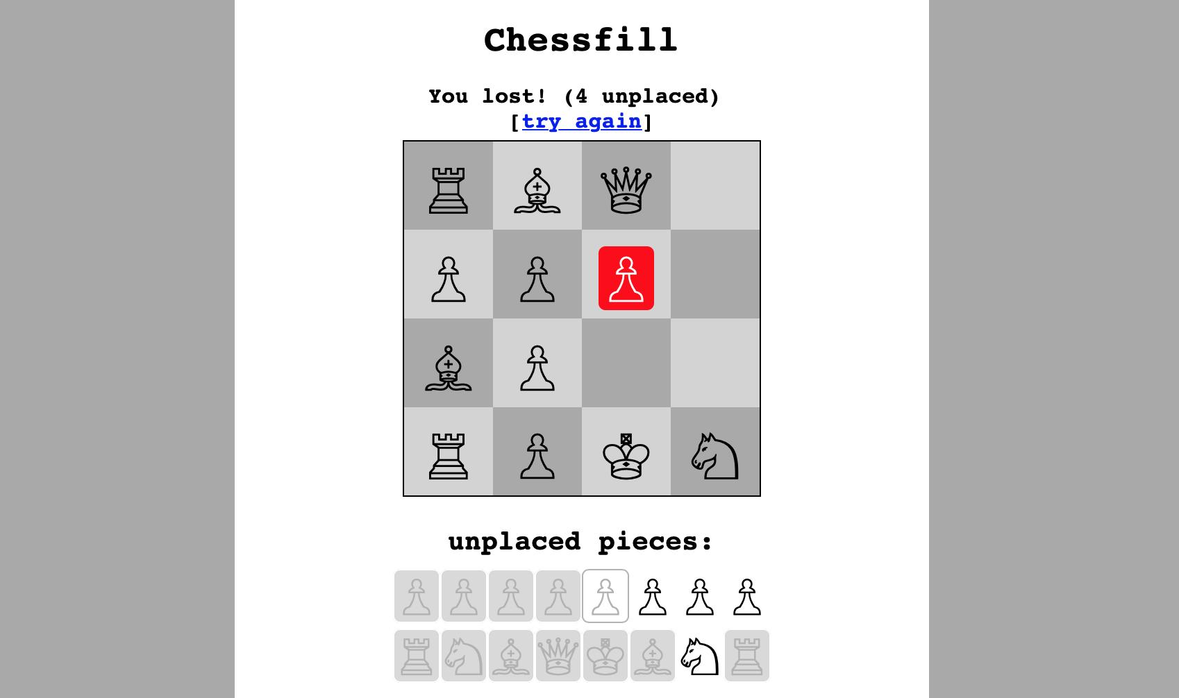Chessfill